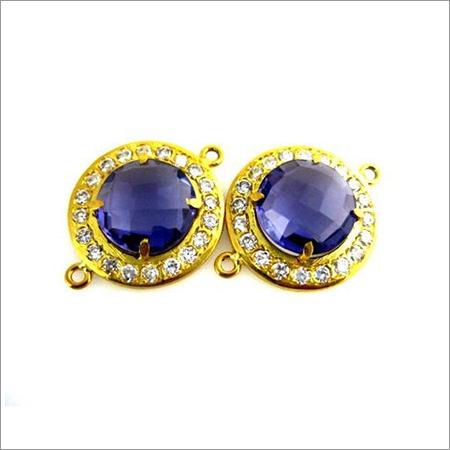 Sapphire & Zircon  Gemstone Connector