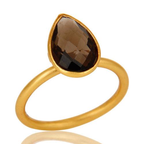 Smoky Topaz Gemstone Ring