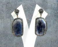 Sapphire & Diamond Gemstone Victorian Earring