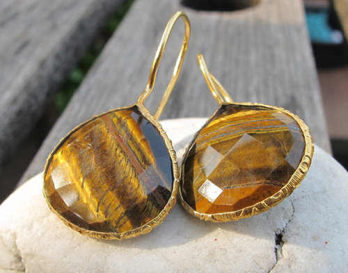 Tiger Eye Gemstone Earring