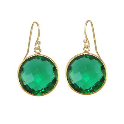 Green Tourmaline Gemstone Earring
