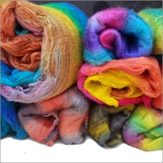 Dyed Silk Fiber Sheet