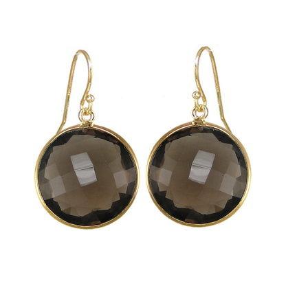 Smoky Topaz Gemstone Earring