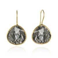 Black Rutile Gemstone Earring