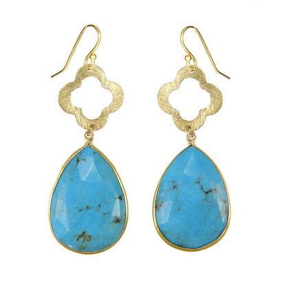 Turquoise Gemstone Earring