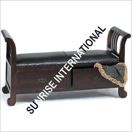 Wooden Sit Cum Drawer
