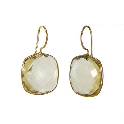 Lemon Quartz Gemstone Earring