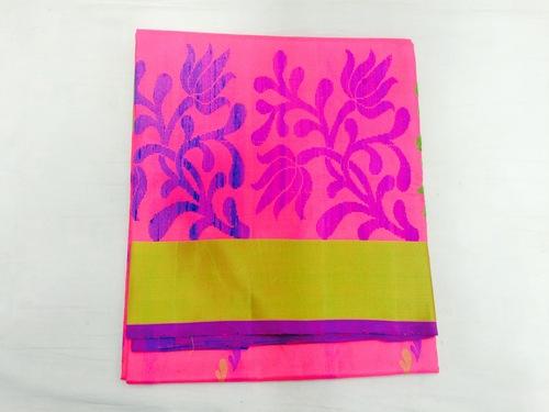 Pure Silk Handloom Pink Saree