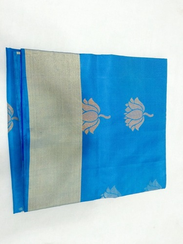 Pure Silk Handloom Sky Colour Saree