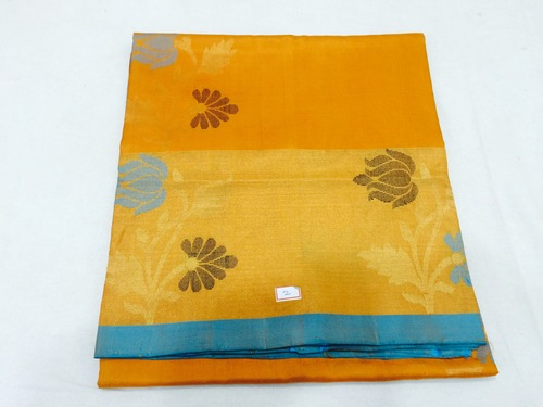 Pure Silk Handloom Yellow Colour Saree