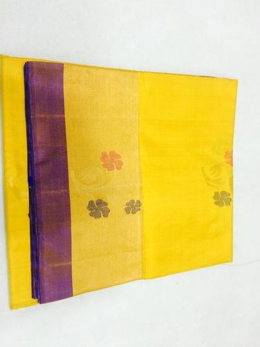 Pure Silk Handloom Yellow Saree