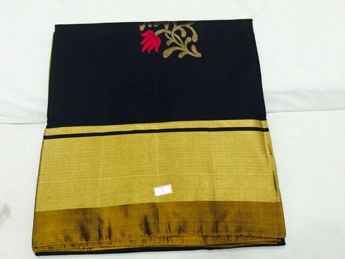 Pure Silk Handloom Black Saree