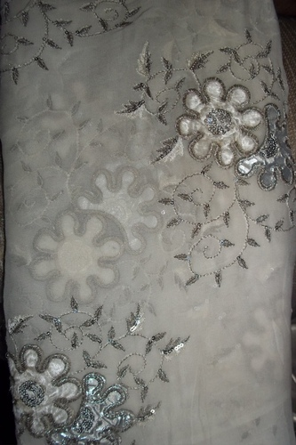 Sequin Net Embroidery Fabric
