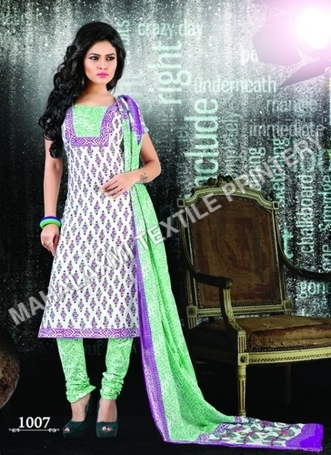 Unstitched Cotton Salwar Suit Materials Jetpur