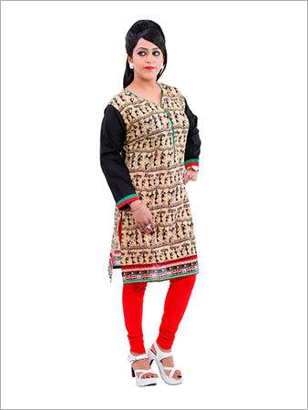 Chiffon designer kurti