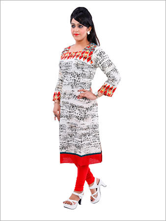 Embroidered Silk Kurtis