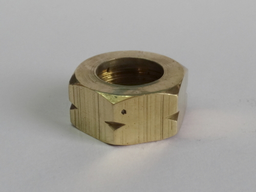 Brass Sanitary Hex Nut
