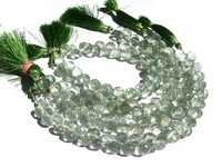 Green Amethyst Briolette Gemstone Beads
