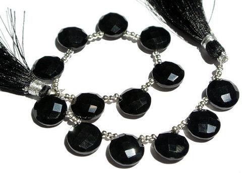 Black Onyx Briolette Gemstone Beads