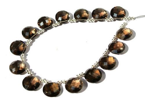 Smoky Topaz Briolette Gemstone Beads