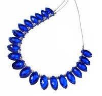 Blue Chalcedony Briolette Gemstone Beads