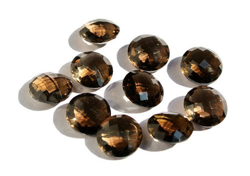 Smoky Topaz Briolette Gemstone Beads