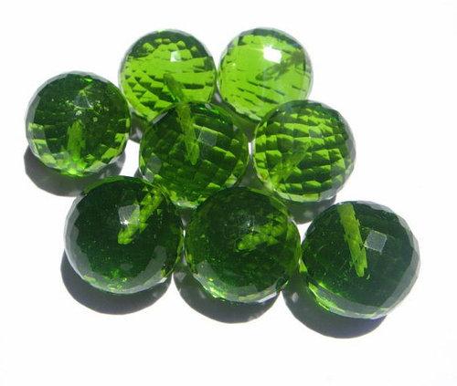 Peridot Briolette Gemstone Beads