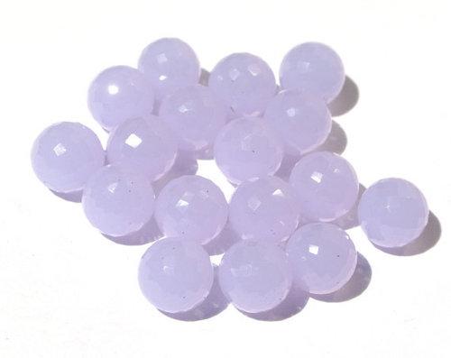 Lavender Briolette Gemstone Beads