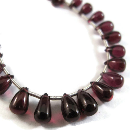 Garnet Briolette Gemstone Beads