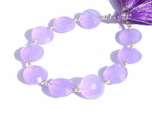 Lavender Chalcedony  Briolette Gemstone Beads