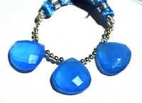 Blue Chalcedony Briolette Gemstone Beads