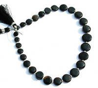Black Onyx Briolette Gemstone Beads