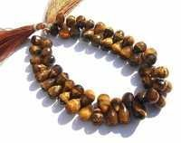 Tiger Eye Briolette Gemstone Beads