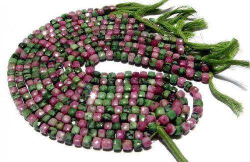 Ruby josite Briolette Gemstone Beads