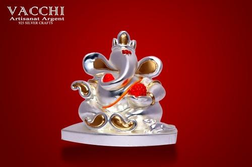 Silver Plated Ganesh Idol