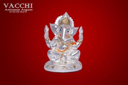 Silver Plated Ganesha Statue
