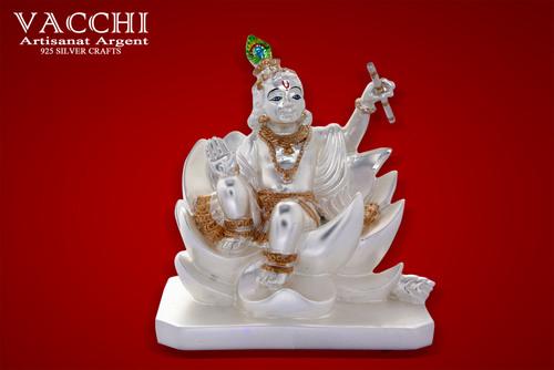 Silver Plated Krishna