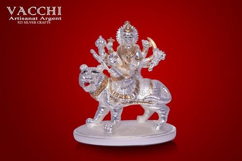 Silver Plated Durga
