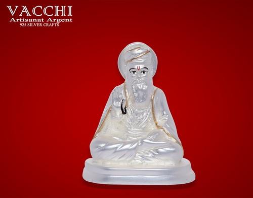 Silver Coated Guru Nanak Statue