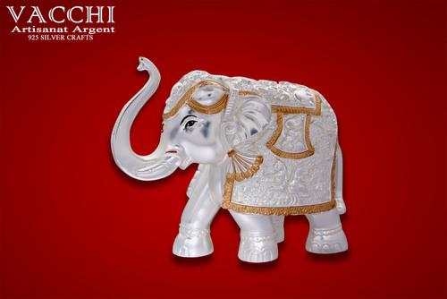 Silver Coated Elephant