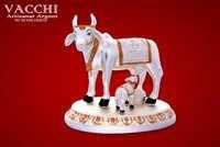 Silver Plated Kamdhenu Cow