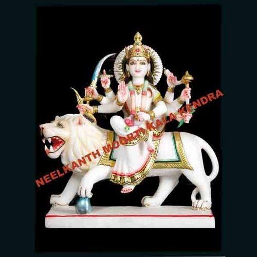 marble durga mata goddess statue