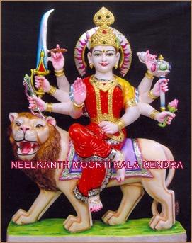 marble durga statue exporter