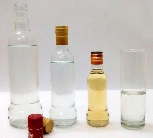 750ml 375 ml 180 ml Vodka bottle