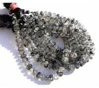 Black Rutile Briolette Gemstone Beads