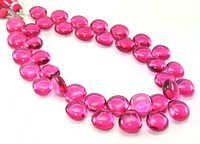 Pink Quartz Briolette Gemstone Beads