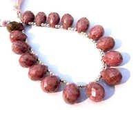 Rhodoite Briolette Gemstone Beads