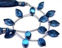 Lolite Briolette Gemstone Beads