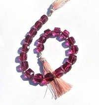 Pink Quartz Briolette Gemstone Beads