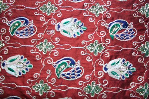Embroidery Fabrics Multi Color